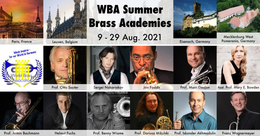 WBA Summer Brass Academies<br>9-29 Aug. 2021