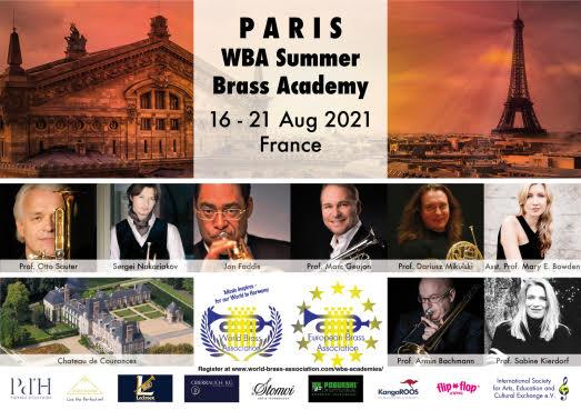PARIS WBA Summer Brass Academy<br>16 -21 Aug 2021 France