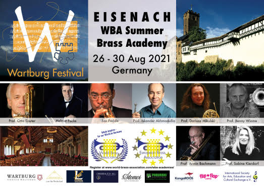 EISENACH WBA Summer Brass Academy<br>26-30 Aug. 2021 Germany